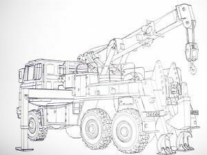 Foden.Recovery vehicle wheeled GS, 6x6. Complete equipment schedule.