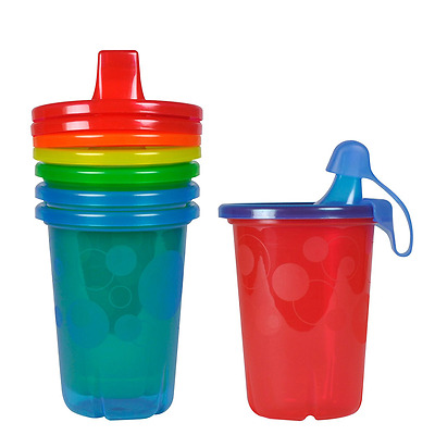 Durable Spill-Proof Sippy Colorful Cups Kids Baby Toddler Tool 10 Oz Pack of 4