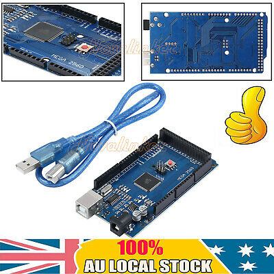 NEW Arduino-Compatible Mega2560 R3 ATmega2560 ATMega16U2 Dev Board + USB Cable