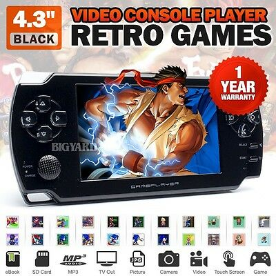 "4.3"" Black Handheld Camera Video Console Player Retro Games MP3 NES GBA GBC PS1"