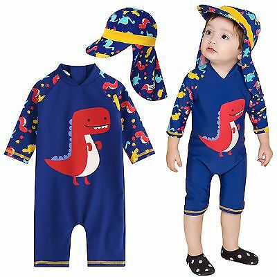 "Vaenait Baby Infant Boys UPF+50 Swimwear Bathing Suit ""Baby Dino pop"" 6-24M"