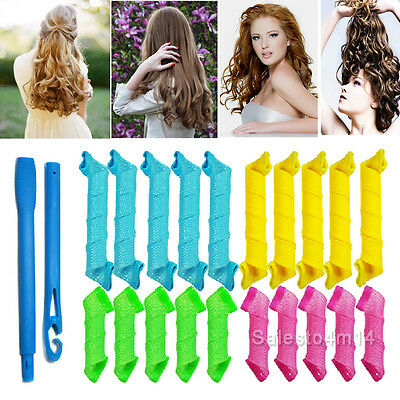 NEW Magic Hair Curler DIY 18PCS Leverage Curlers Formers Spiral Styling Rollers