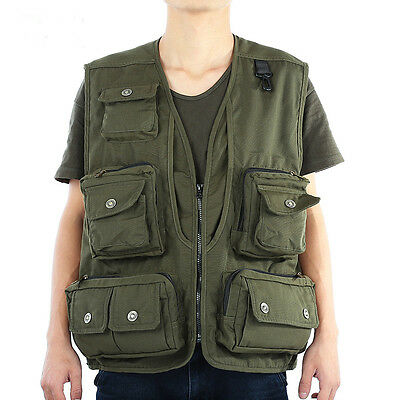 Fly Fishing Vest Jacket Multi-pocket Mesh Fabric Outdoor Fishing Chest Pack