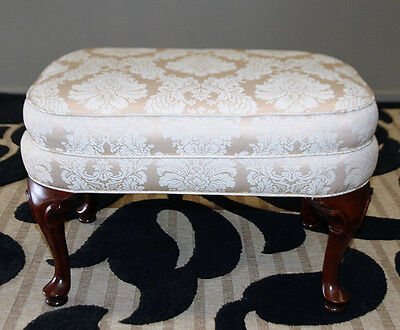 Divine Moran Upholstered In French Style Ottoman Foot Stool Poof Pouf