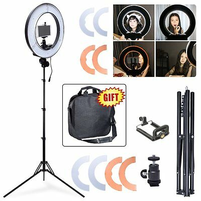 "Studio Dimmable 13.5"" 34cm 40W LED Ring Light Lamp Beauty Makeup Photo Video US"