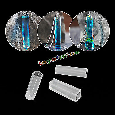 Crystal Geometric Jewelry Making Tools Silicone Mold Pendant Resin Craft DIY Hot