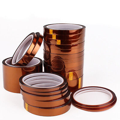 High Temperature Kapton Tape Polyimide 3D Printing 33m Per Roll Width 2-100mm