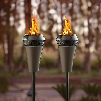 Outdoor Lawn Garden Pathway Light Large Flame Torch Landscape Yard Decor 2 Packs