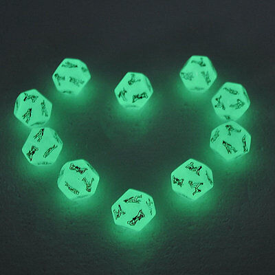 12 Sides Glow In The Dark Sex Position Dice Adult Couples Bedroom Funny Game