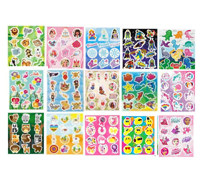 Childrens Party Bag Stickers Fillers Toys  - Lots of Designs - Choose Quantity