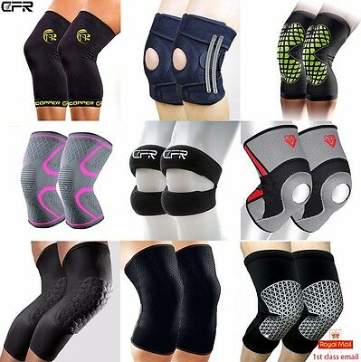 Black Neoprene Adjustable Open Knee Patella Tendon Support Brace Sleeve UK JF