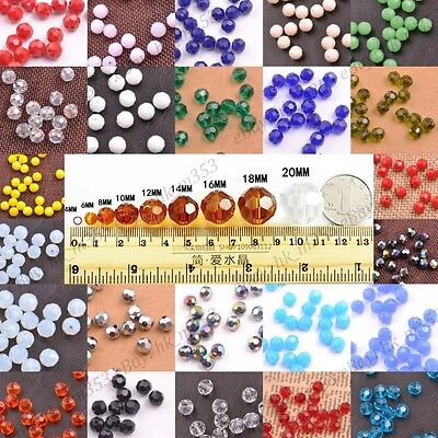 Top Quality Czech Glass Faceted Round Ball Loose Beads Choose Colors 3-10MM