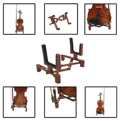 Lightweight Steady Foldable Violin Stand Bow Holder Plastic Instrument Bracket ~