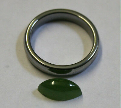 Natural Green Jade Marquise Gemstone 6X12 Cabochon 3Ct Loose Gem Ja24A