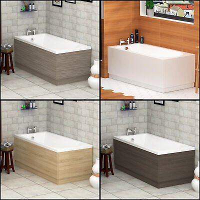 Modern Bathroom MDF Front and End Adjustable Bath Panels & Plinth Various Sizes