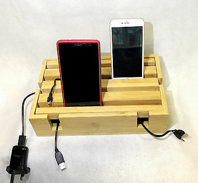 10 x Wholesale Wooden Cable Power Plug Storage Box Case Cord Wire Ipad Iphone