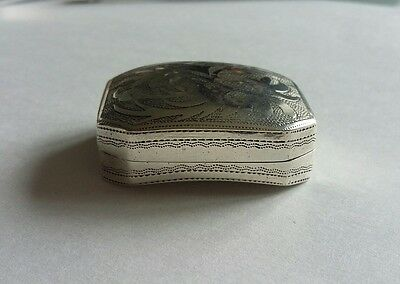 Antique Silver Vinaigrette 1807  Birmingham Cocks & Betteridge