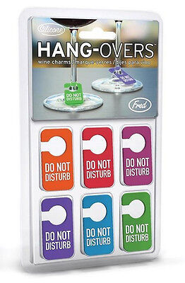 Set of 6 Fred Silicone Do Not Disturb Wine Charms