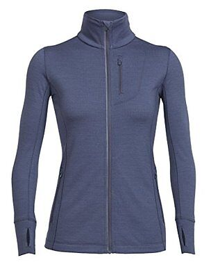 Icebreaker da donna RUSH LS Zip Cover ups, donna, Rush LS Zip, Gumtree, L (Q1T)