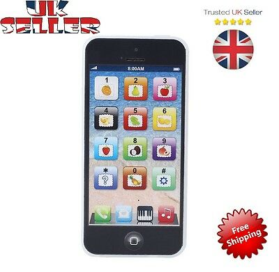 Baby IPhone Mobile Phone Educational Toy For Children Playmobil Black touch