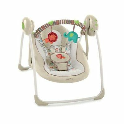 Baby Swing Chair Portable Cradle Seat Quiet Rocker w/ Melodies Comfortable Folds