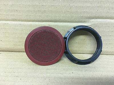 Bmw 3 Series E46 Convertible Rear Card Tweeter Speaker Red Grill