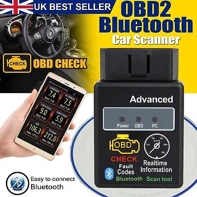 New ELM327 HH OBD OBD2 V2.1 Advanced Bluetooth Car Auto Diagnostic Scanner Tool