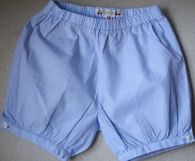 Bonpoint Baby Azur Blue Bloomers Shorts 12 Months