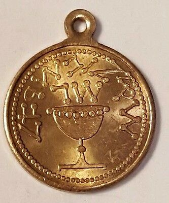 Israel Gold Necklace Coin , Au-Unc( .900 Gold Fineness ?) Free Usa Ship