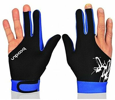 BOODUN Professional Billiards Gloves 3 Fingers Carom Snooker Pool Cue Shooters