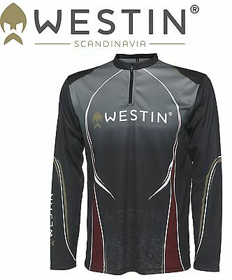 Westin Tournament Shirt LS Pirate Black, Angelshirt, Langarmshirt
