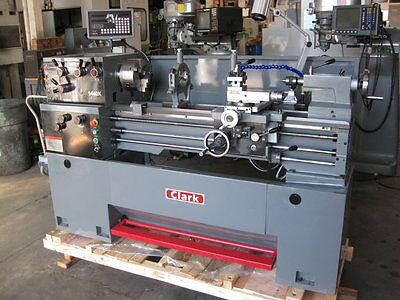 """CLARK 14"""" x 40"""" Gap-Bed Engine Lathe Digital Readout & Loaded with Tooling. NEW!"""