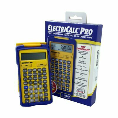 Updateable Electrical Code ElectriCalc Pro Calculator Calculated Industries