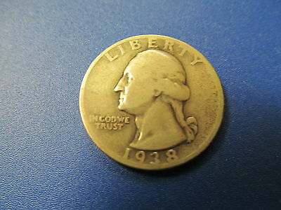 1938-S  Washington Quarter - Low Mintage Circulated Coin !!