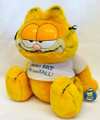 "Vintage 9"" Garfield 'I'm not Fat I'm under Tall!' Soft/Plush Toy *Dakin*"
