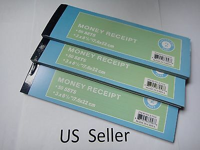 3X-Carbonless Cash Money Rent receipt record book 2 part 50 sets duplicate copy