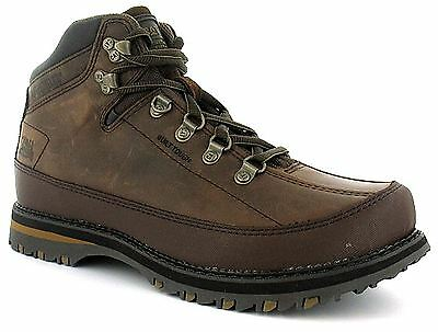 CAT Britton Mens Leather Lace Up Caterpillar Mens Boots Nutmeg