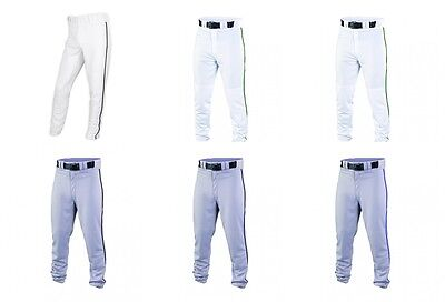 Easton Pro Piped Ankle Length Baseball Pants A164144 White. Grey, With Piping