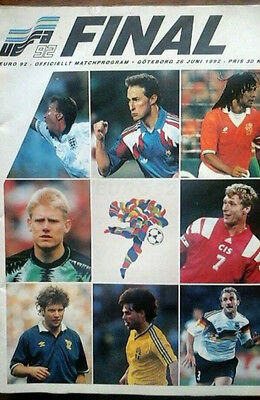 Denmark V Germany 26/6/1992 European Championship Final @ Gothenborg