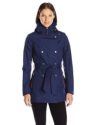Helly Hansen W Welsey Trench, Blu (Evening Blue), S (G7C)