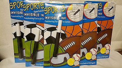 Lot Of 10 Sports Spectacular Invisible Ink Facts And Fun Games Travel Fun