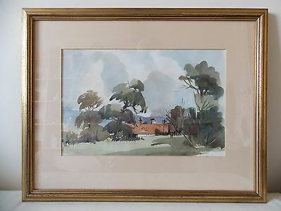 Original framed WATERCOLOUR PAINTING Shere Surrey JOHN TOOKEY signed artist