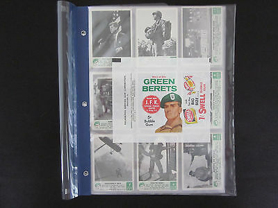 1966 Philadelphia Chewing Gum Green Berets Cards Set (58) VG-EX w/Wrapper