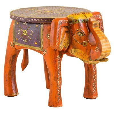 Hand Painted Elephant Table, Stool, Ornament, Choice Of Designs. Fair Trade.