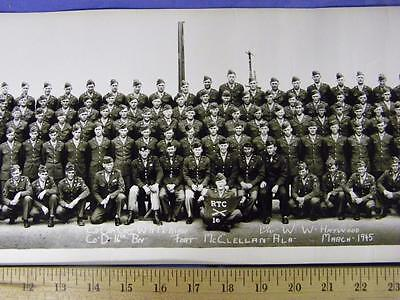"""34""""  US ARMY Photo / Picture, Co D 16th Battalion Fort McClellan Alabama - 1945"""
