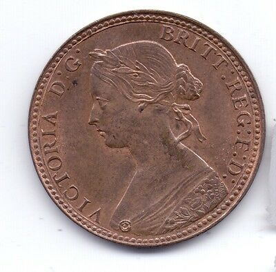 1860 QUEEN VICTORIA HALF PENNY COIN (beaded border)