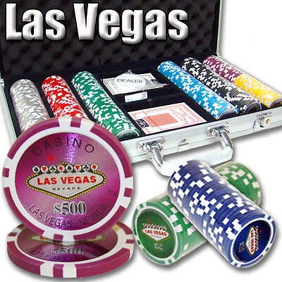 NEW 300 PC Las Vegas 14 Gram Clay Poker Chips Set Aluminum Case Pick Your Chips