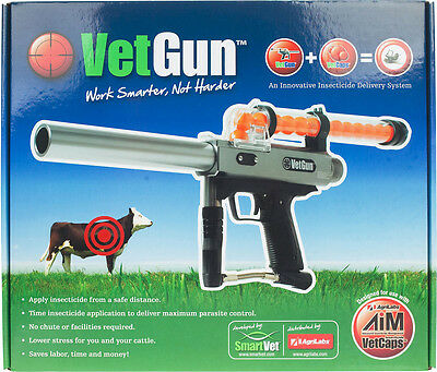VetGun for Cattle Co2 Propelled Parasiticide GelCap Delivery System Aim-L GelCap