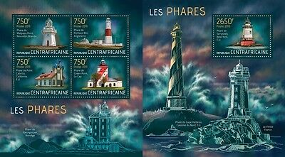 CA13515ab Central Africa 2013 Lighthouses MNH SET