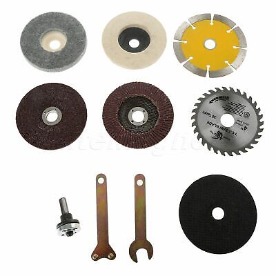 10X Angle Grinder Saw Blades Disc Wheel Polished Pad Cut Off Grinding Rotary Kit